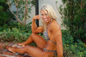 IFBB Figure Pro Mandy looks so lovely in this great shot -- one of my favorites.